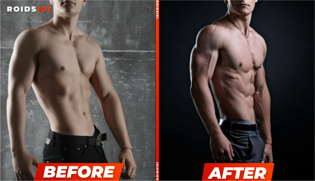 anavar before and after cycle results example