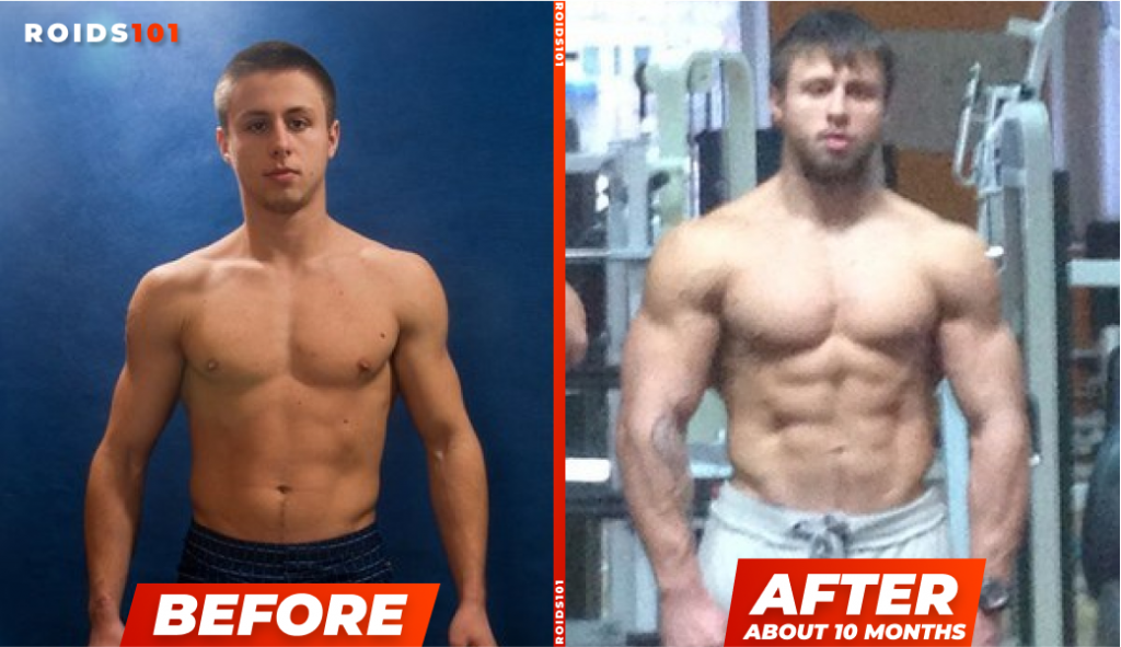testosterone enanthate before and after example